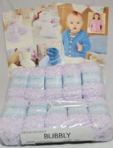Sirdar Snuggly Bubbly 50g - 10 Ball Pack with TWO FREE PATTERNS 4556 & 4557. 104 Muffly Mauve